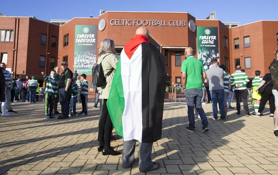 Celtic fans treble target of £15,000 for Palestine charities