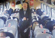 Train CCTV appears to show Jeremy Corbyn sitting in a seat and not on floor