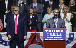 Farage tells Trump: 'I wouldn't vote for Hillary if you paid me'