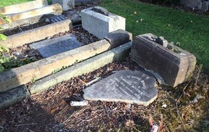 'Drunken louts' damage Jewish graves at Belfast City Cemetery