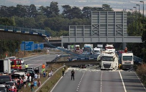 M20 reopens after footbridge collapse
