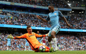 Raheem Sterling at the double in Manchester City victory