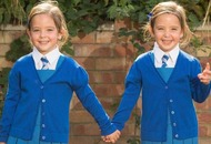 Mother's delight as conjoined twins prepare to start school