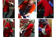 Armed man in red dress and wig robbed sex shop