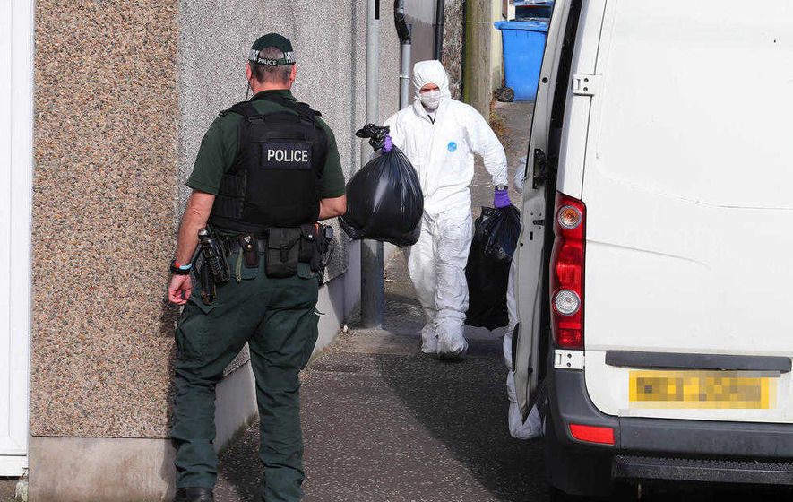 New searches ongoing in Larne after Royal Marine terror arrest