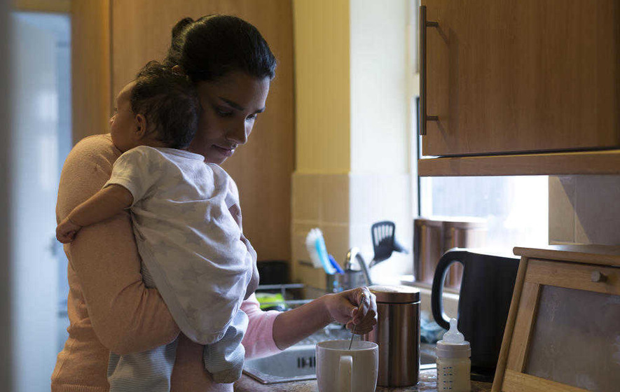 Women with young children less likely to be in work than men