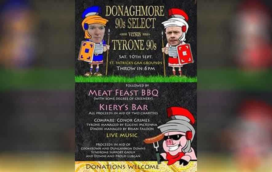 news donaghmore take tyrone charity match