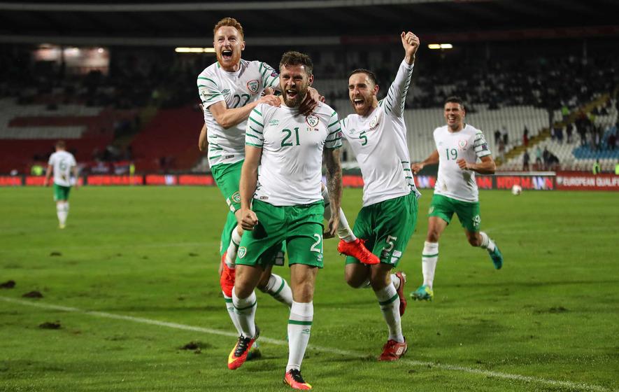 Daryl Murphy earns point for Ireland in Belgrade