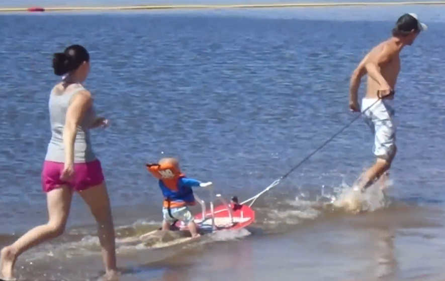 Six Month Old Baby Is Youngest Waterskier To Ever Hit The