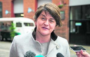 Arlene Foster backs protest over closure of Belleek border bank