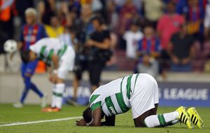 Celtic 'ran out of legs' in Barcelona rout says 'disappointed' Brendan Rodgers