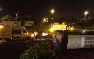 Irish and British tourists among 24 injured in Barcelona bus crash