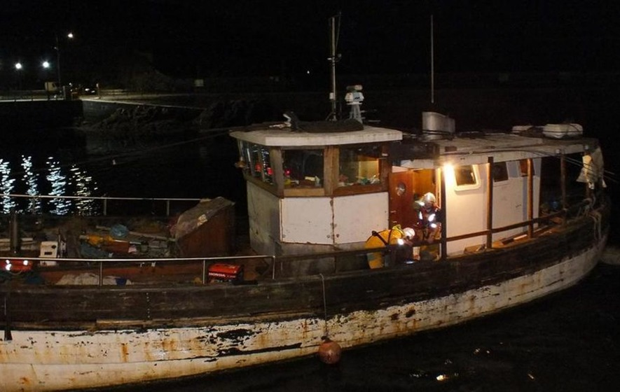 Four rescued from sinking trawler in the Irish Sea