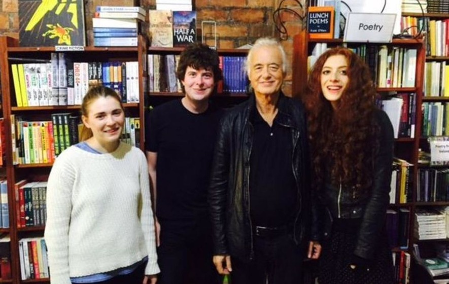 Led Zeppelin guitarist Jimmy Page visits Belfast