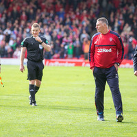 Rangers manager Mark Warburton frustrated by late free-kick call