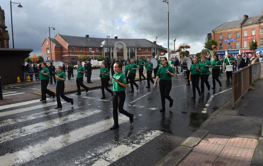 Heavy police presence on Belfast streets as republican parade marks Easter Rising