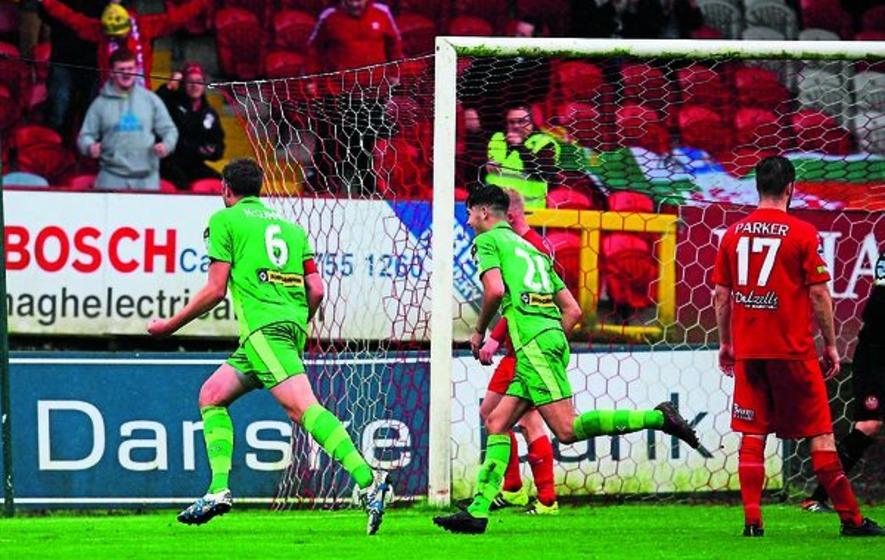 Cliftonville manager Gerard Lyttle is happy after Reds defeat Portadown