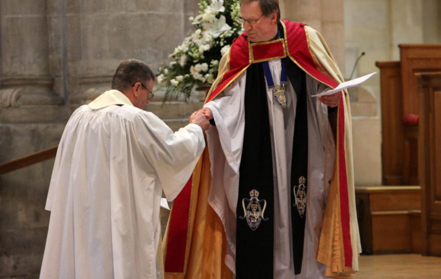 Catholic priest Fr Edward O'Donnell installed at St Anne's Cathedral