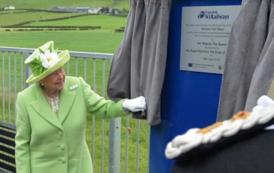 Train station plaque unveiled by Queen Elizabeth removed within 24 hours