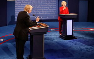 Hillary Clinton accuses Donald Trump over 'secret' tax returns in US presidential debate