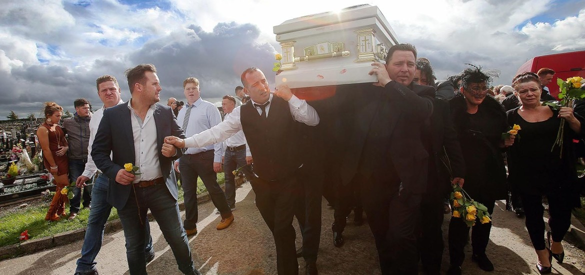 Funeral of Queen of the Travellers Violet Crumlish in ...