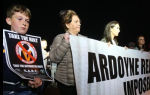 Garc residents' protest march and rally in Ardoyne passes off peacefully