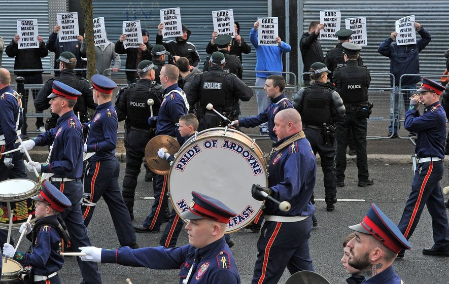 Camp Twaddell dismantled as Orange Order parade passes off peacefully