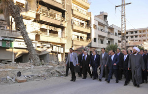 Assad denies government targetting hospitals and civilian infrastructure