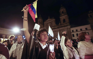 Colombians march to save peace deal