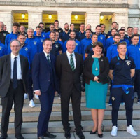 Stormont honours NI squad for European Championships achievements