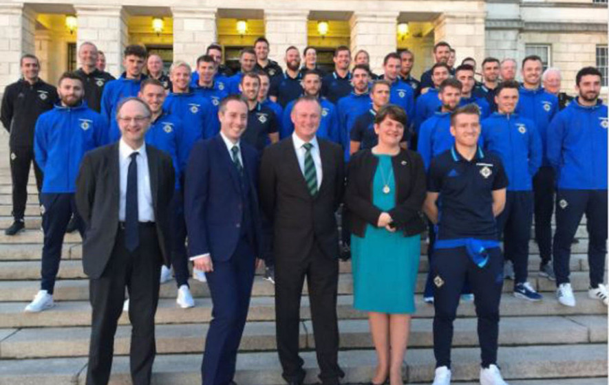 Stormont honours NI squad for European Championships achievements