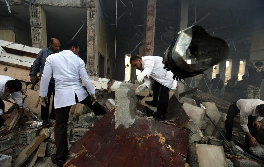 Armed Yemeni protesters call for investigation into wake bombing