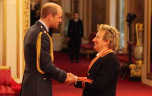 Sir Rod Stewart 'on cloud nine' after getting his knighthood at Buckingham Palace
