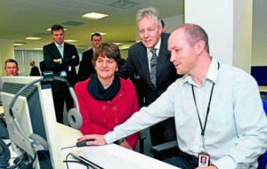 New 192 Fujitsu jobs a direct spin-off from G8, says First Minister Peter Robinson