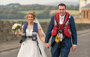 Lifeboat volunteer's wedding speech interrupted by call-out