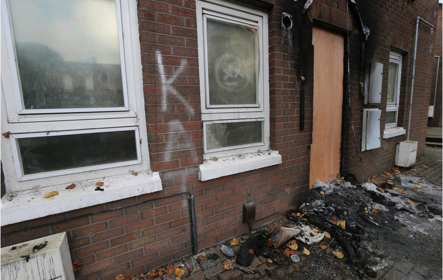 Sectarian message 'Kill All Taigs' sprayed in arson attack on north Belfast flat