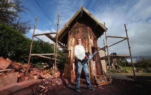Co Antrim artist Sean McKeown turns tree stumps into fairy village
