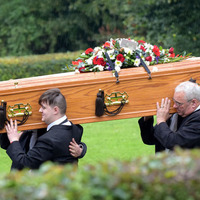 Rangers manager attends funeral of Larne fan Ryan Baird who was killed in bus crash