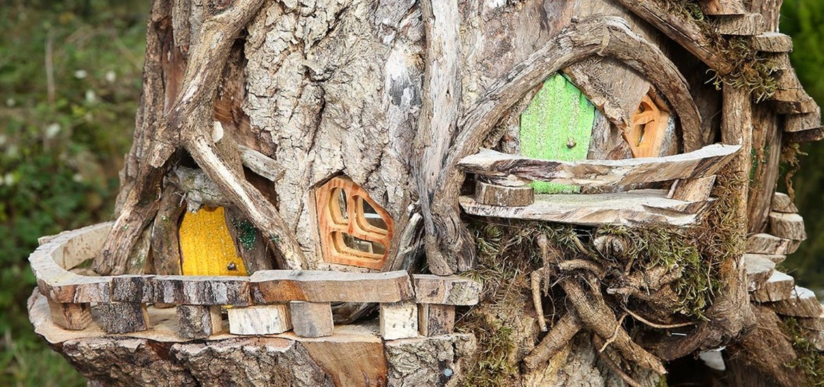 in pictures from tree stumps to fairy houses