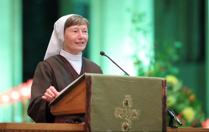 Sister Martina Purdy says she can't blame politicians for her decision to join convent