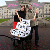 Abortion petition signed by 45,000 delivered to Stormont in wheelbarrow