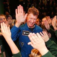 Astronaut Tim Peake drops into Belfast