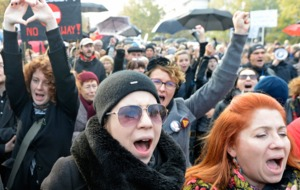 Polish woman stage fresh protests over plans to tighten laws on abortion