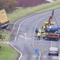 Man dies following Co Antrim crash involving car and lorry