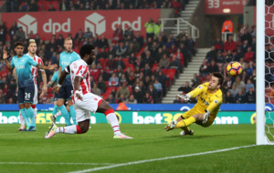 Wilfried Bony brace earns Stoke victory over Swansea