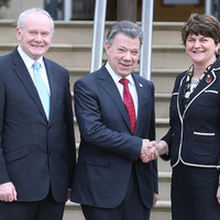 Colombian President pays tribute to peace process in flying visit to Belfast