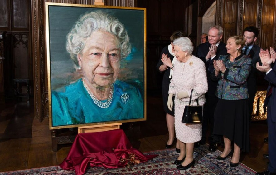 Queen unveils portrait by Belfast's Colin Davidson at Co-operation Ireland event
