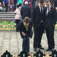 Hundreds attend Belfast City Hall Armistice Day ceremony