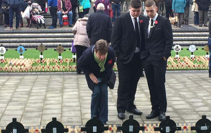 Hundreds attend Belfast City Hall Armistice Day ceremony