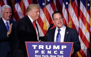 Reince Priebus appointed as Donald Trump's White House chief of staff